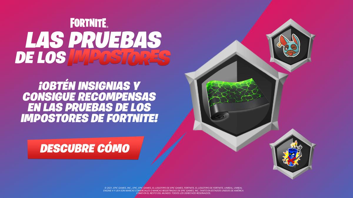 recompensas gratuitas en Fortnite Impostors